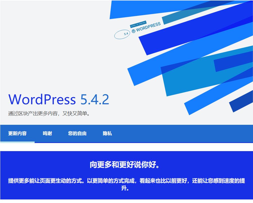 WordPress 5.4.2版本发布,BUG维护和安全更新